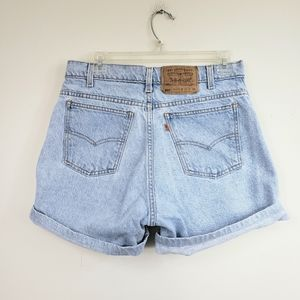 Levi's Vintage high waisted 550 light wash shorts